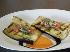 Gluten-Free   Vegan Recipe | Grilled Eggplant with Tomato Basil Pesto
