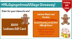 #MLGgingerbreadVillage Giveaway - Enter for a chance to win a $100 President's Choice Gift card (that will make baking supply shopping easier!)