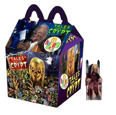 """""""Tales From The Crypt"""" Happy Meal Funny Horror, Horror Movies, Ghost Movies, Horror Books, Halloween Horror, Happy Halloween, Halloween Movies, Happy Meal Box, Horror Photos"""