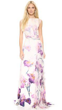 Haute Hippie Meadow Floral Gown | SHOPBOP