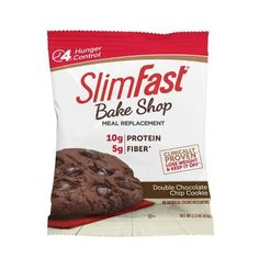 SlimFast Bakeshop Meal Replacement Double Chocolate Chip Cookie with of Protein and Fiber oz 4 Count * Details can be found by clicking on the image. (This is an affiliate link and I receive a commission for the sales) Ceviche, Enchiladas, Wok, Milk Chocolate Chip Cookies, Menu, Gourmet Dog Treats, Nutrition, Slim Fast, Best Homemade Dog Food