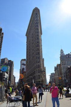 #Flatiron Building, #New-york, croisement Broadway, 5ème avenue, seule avenue diagonale de New-York.