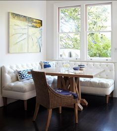 """LOVE THIS:  """"for all things creative!: My DIY Kitchen Banquette"""""""