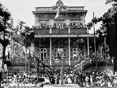 "Title: Students of the ""Preliminary Department"" of La-fayette Institute. City of Rio de Janeiro, Brazil, ending of 1940.<br /> <br /> Festa de alunos do ""Departamento Preliminar"" do antigo Instituto La-fayette. Rio de Janeiro, 1940."