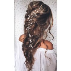 20 Stunning Half Up Half Down Wedding Hairstyles with Tutorial ❤ liked on Polyvore featuring hair
