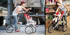 Taga bike transforms from a bike to a stroller in 20 seconds...for a mere $1500!