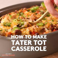 New Breakfast Sausage Casserole Recipes Simple 61 Ideas Tater Tot Breakfast Casserole, Breakfast Casserole Sausage, Sausage Soup, Dog Food Recipes, Vegetarian Recipes, Cooking Recipes, Budget Recipes, Simple Recipes, Meal Recipes