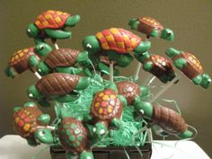 Sea Turtle Cake Pops