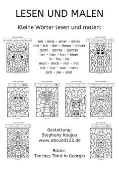 Primary and pre-school materials - Elementary Education Art Education Resources, Science Education, Teacher Resources, Teaching Kindergarten, Teaching Kids, Kids Learning, German Grammar, German Language Learning, Learn German