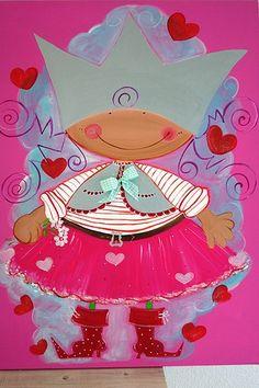 Vrolijkeboel Lief meisje | Kinderkamerkunst | 4kidsathome