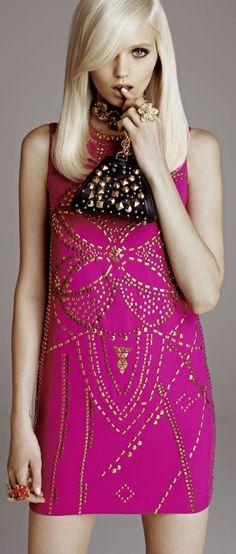 ~ Living a Beautiful Life ~ Abbey Lee Kershaw in Versace by Kacper Kasprzyk for H&M Lookbook 2011