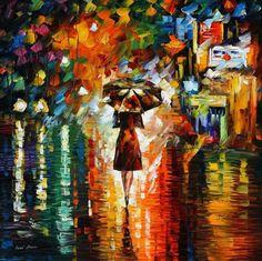 La Colorida Pintura de Leonid Afremov arte  luz  ilustración