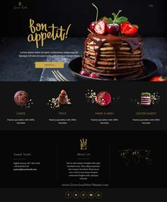 Beautiful pro restaurant UI design inspiration for food and glossary websites. Bakery Website, Restaurant Website Design, Food Website, Website Ideas, Nice Website, Website Design Inspiration, Website Design Layout, Blog Layout, Website Designs