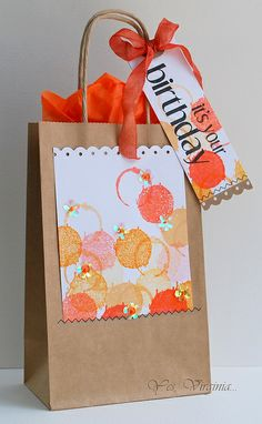 Stamping a Gift Bag!