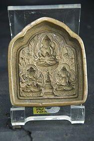 Bronze Amulet Mould, Tibet, 19th C.
