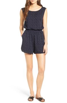 Main Image - cupcakes and cashmere Gianni Button Back Romper