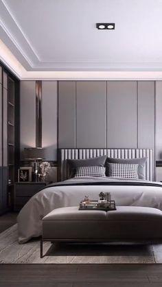 Ceiling Design Living Room, Bedroom False Ceiling Design, Master Bedroom Interior, Room Design Bedroom, Modern Master Bedroom, Bedroom Furniture Design, Modern Luxury Bedroom, Luxury Bedroom Design, Luxurious Bedrooms
