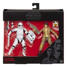 Star Wars: The Force Awakens Black Series Poe Dameron vs Stormtrooper Set. I want this!!!!!!