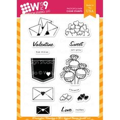 Wplus9 A POCKETFUL VALENTINE Clear Stamps 71255 Preview Image