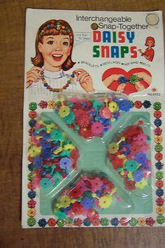 Daisy Snaps Beads - Vintage Toy | eBay