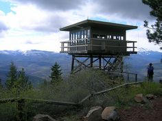 Green Ridge Lookout by ebroskie1234, via Flickr; camp in fire tower in Deschutes National Forest