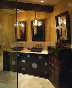 Asian chests can be a gorgeous bathroom sink.