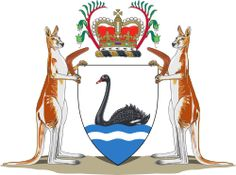 Coat of Arms of Western Australia. The Coat of arms of Western Australia is the official coat of arms of the Australian State of Western Australia. It was granted by a Royal Warrant of Her Majesty Queen Elizabeth II dated 17 March 1969.