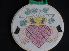 Claddagh Hoop Art Embroidered Claddagh Irish by GuineveresFolly, $15.00