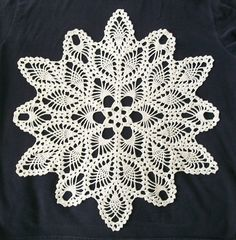 """This pattern is from the book """"Doilies, Five Designs to Crochet"""" by the American School of Needlework, published in 1992."""