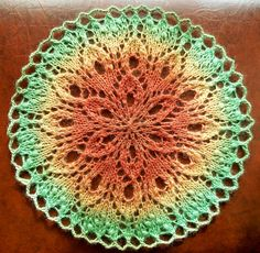 Tulipe, Estonian Inspired Lace Doily  by Linda Browning