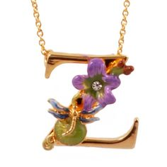 Flowers and cute creatures spell out your personal story on those gorgeous necklaces. Choose your initial, embellished with delightful and imaginative symbols from the garden. Shop the famous Alphabet Fleuri collection by Les Nereides online!