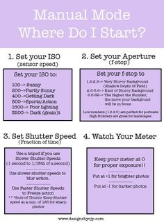 Photography tips | For mommy class. How to Shoot in Manual Mode. Broken down step by step! Now THIS makes sense!