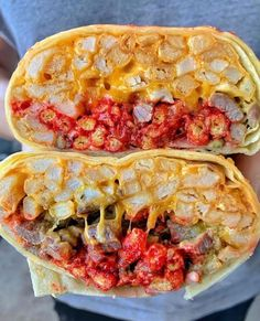 Yummy Foooooood - Beef Burrito with Fries and Hot Cheetos Spicy Recipes, Mexican Food Recipes, Appetizer Recipes, Good Food, Yummy Food, Tasty, Make Ahead Meals, Aesthetic Food, Food Cravings