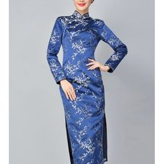 #dress #cheongsam #chipao #tailormade #style #fashion #streetstyleTailor Made Plum Blossom Long Sleeve ChiPao