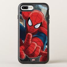 Spider-Man High Above the City OtterBox Symmetry iPhone 8 Plus Case Spiderman Wall Decals, Spiderman Theme, Spiderman Marvel, Marshmello Wallpapers, Power Ranger Party, Baby Girl Dress Design, Toy Cars For Kids, Iphone 8, Iphone Cases