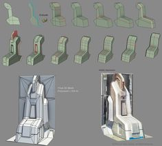 Step by step Low Poly Modeling Breakdown for Sci-fi Pillar