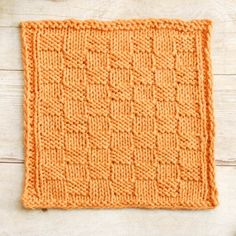 Basket Weave Knit Dishcloth Pattern