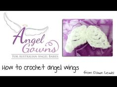 Crochet Angel Wings Video - YouTube