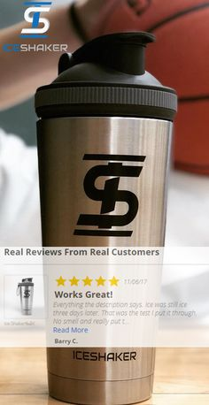 The BEST shaker bottle on the market!  Check out our amazing reviews from real customers.  Ice Shaker is a kitchen grade stainless steel bottle that does not absorb odor and holds ice for over 30 hours! The perfect Christmas gift this year for your boyfriend, husband, boss, fiance or anyone else you know that lives a healthy lifestyle.