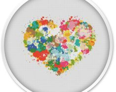 Heart Cross Stitch Pattern Free shipping Cross by WellStitches