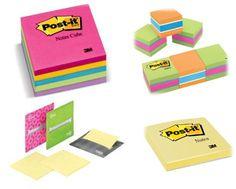Grandes o pequeños, de colores o sencillos pero no te puede faltar un Post-it nunca!!