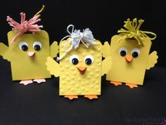 handmade Easter tags: Easter Chicks made from the Scallop Tag Topper Punch . these are simply toooo cute! Stampin Up Karten, Stampin Up Cards, Easter Projects, Easter Crafts, Spring Crafts, Holiday Crafts, Punch Art Cards, Easter Party, Scrapbooking
