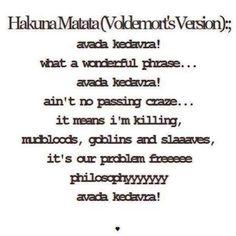 Avada Kedavra ( Hakuna Matata ) Lyrics - Jung Min Soundtrack
