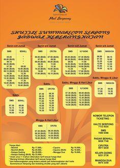 Jadwal terbaru shuttle bus tujuan Benhill, Mangga Dua, Ciputra dan Mal Kelapa Gading.