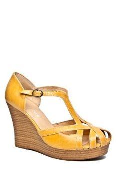 Amazon.com: Chelsea Crew Lifetime High Wedge Sandal - Mustard: Shoes