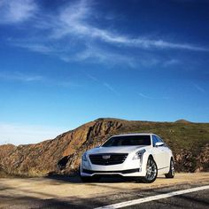 #Regram via @silerroad High and mighty: new @Cadillac #CT6 pauses for breath after charging at 10/10ths along the crest of a mountain north of San Diego. #greatroads #ilovemyjob