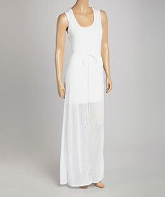 White Francesca Sleeveless Dress by LOLLY #zulily #zulilyfinds