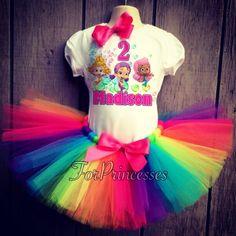 Bubble guppies birthday outfit , bubble guppes tutu set, rainbow tutu on Etsy, $10.00