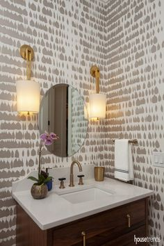 Bright Ideas - Housetrends Beach Bungalows, Bright Ideas, Double Vanity, Building A House, Bathrooms, New Homes, Shower, Mirror, Inspiration