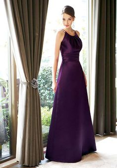 Floor Length Purple Bridesmaid Dresses